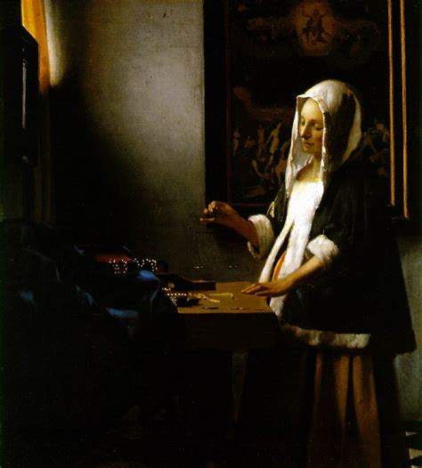 Kitchen Collection Locations by Vermeer Woman Holding A Balance