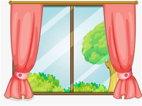 windows clipart windows curtains glass windows green trees