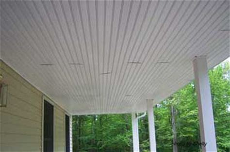 Vinyl Porch Ceiling by Porch Ceilings Installing Vinyl Bead Board Ceiling