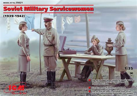 1939 1942 Set Of 4 Soviet Servicewomen 1939 1942 Set Of 4 Figures 1 35 Icm 35621
