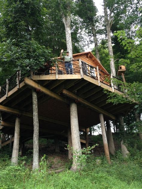 Treehouse Cabins Oklahoma by An Spin On A Childhood Favorite The Tree House Kgou