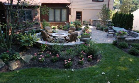 backyard patio landscaping ideas backyard patio and landscape design build ideas in columbus