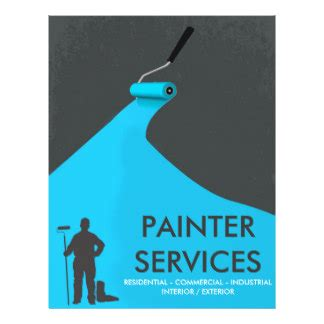 painting flyers templates free painter flyers programs zazzle