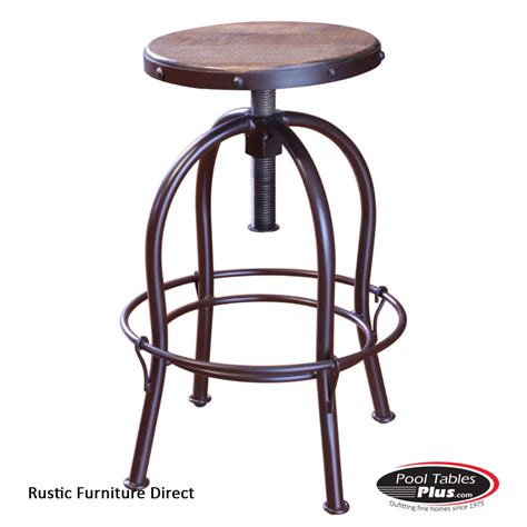 Rustic Iron Bar Stools by Rustic Adjustable D963b Barstool
