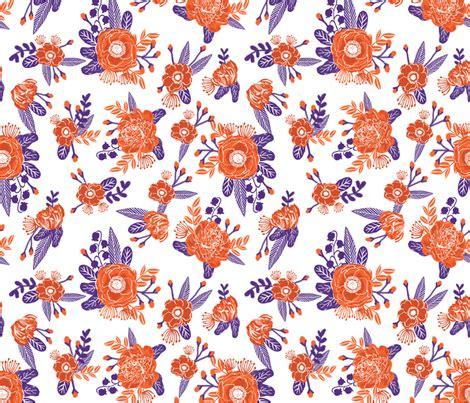 clemson colors orange and purple florals clemson colors wallpaper