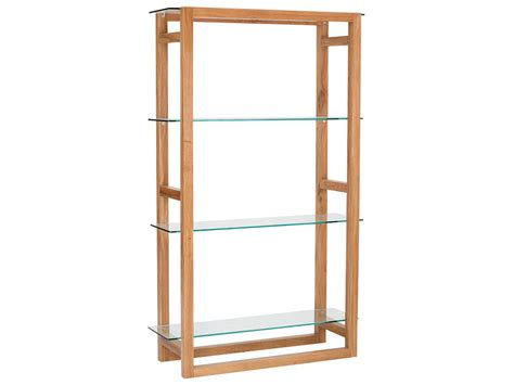 american white oak glass bookcase bookshelf book storage