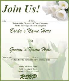 Wedding Invitations Templates Free by 8 Free Wedding Invitation Templates Excel Pdf Formats