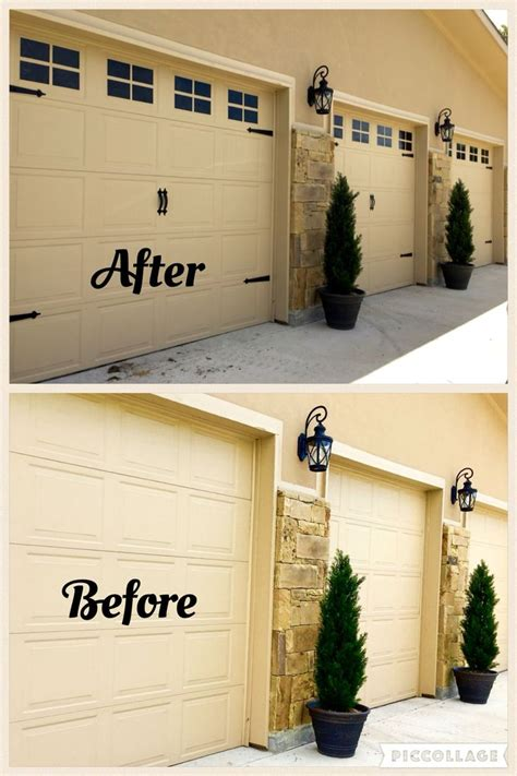 how to dress up a garage door best 25 painted garage doors ideas on garage