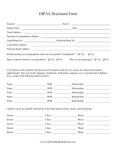 printable hipaa disclosure form