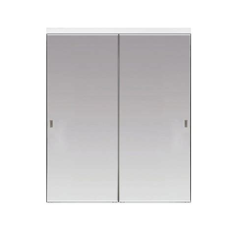 Impact Plus 96 In X 80 In Polished Edge Backed Mirror Sliding Closet Doors For Sale