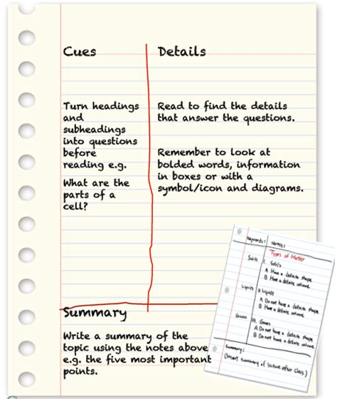 two column notes template level 1 academic literacy language and learning nbss