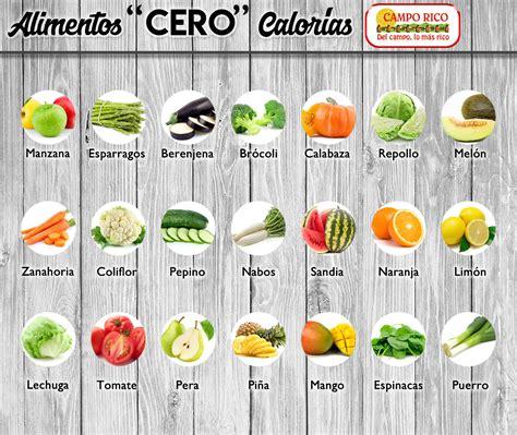 alimentos 0 calorias co alimentos de cero calor 237 as alimentaci 243 n