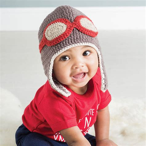 Best Quality Baby Pilot Hat crochet baby aviator hat by attic notonthehighstreet