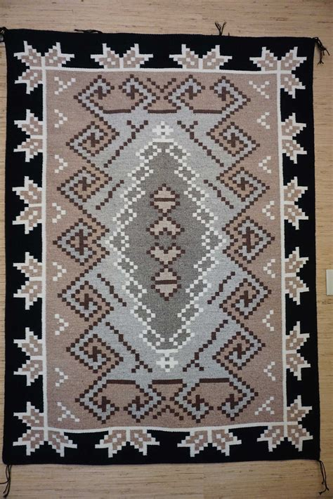 large navajo rugs for sale large two grey navajo rug with a half snowflake border 928 s navajo rugs for sale