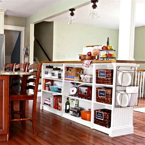 Kitchen Island Bookcase 6 bookcase kitchen island 9 creative low cost upgrades from our favorite this