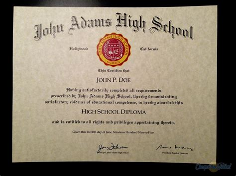 high school diploma template with seal buy a college diploma