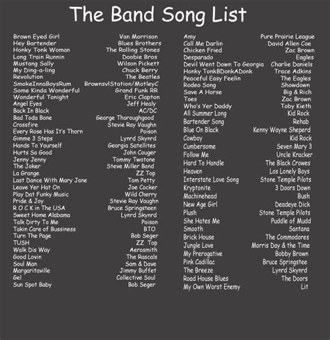song list big band song list pegasus