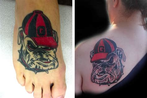 uga tattoo these 15 college themed tattoos
