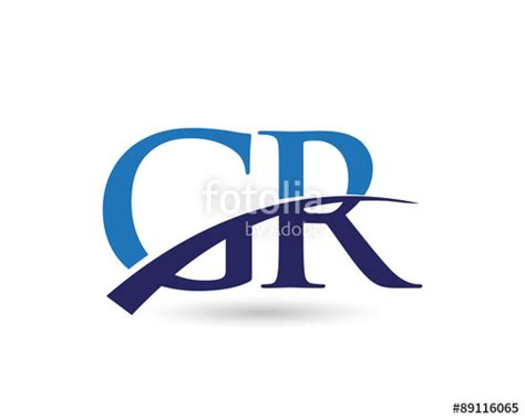 """GR Logo Letter Swoosh"" Stock image and royalty-free ... G R Logo"