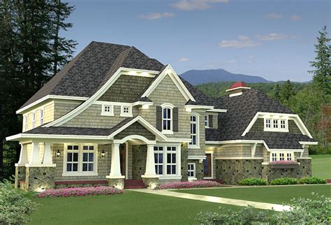 architectural home designer 4 bedroom shingle style stunner 14589rk architectural designs house plans