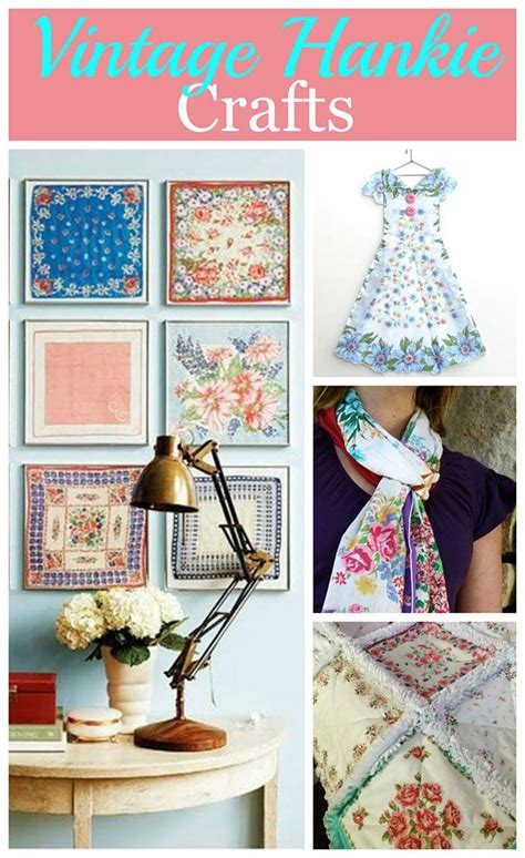 vintage crafts craft ideas using vintage hankies house of hawthornes