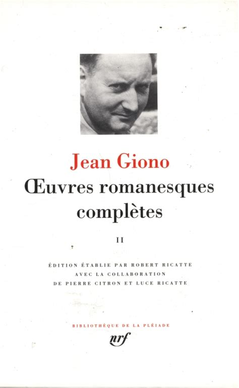 Jean Giono Oeuvres Romanesques Compl 232 Tes Tome 2 Jean