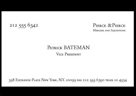 paul allen business card template the gallery for gt bateman american psycho costume