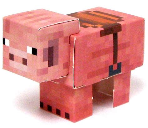 Minecraft Pig Papercraft - minecraft pig with saddle papercraft on sale at toywiz