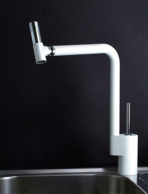 kitchen faucet white webert 360 kitchen faucet in white chrome modern