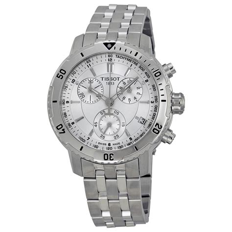 Tissot Prs200 tissot prs 200 silver chronograph stainless steel