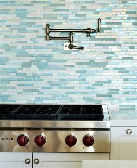 blue glass tile kitchen backsplash best 25 glass tile kitchen backsplash ideas on