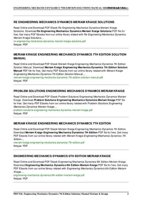Engineering Mechanics Dynamics engineering mechanics dynamics 7th editi