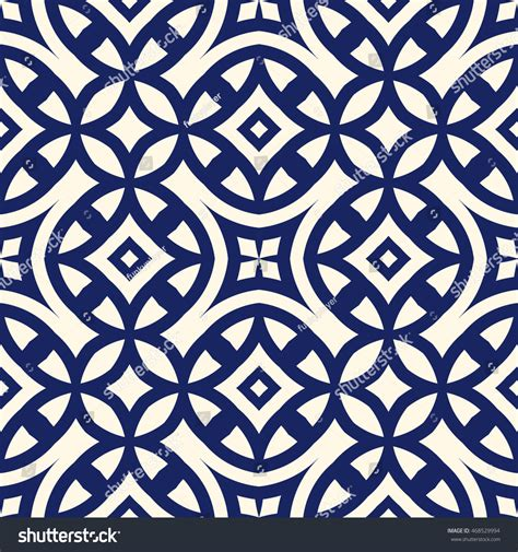 navy pattern vector seamless pattern symmetric geometric ornament navy stock