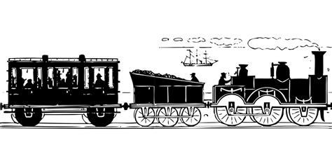 treno clipart immagine vettoriale gratis treno passeggeri carbone