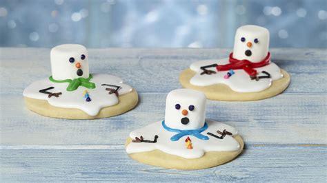 Eat In Kitchen Decorating Ideas melted snowman sugar cookies recipe bettycrocker com