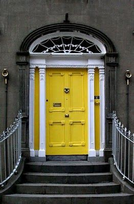 bright yellow door bright yellow door with white and black painted trim