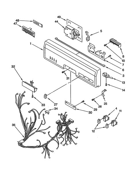 kitchenaid dishwasher wiring diagram dishwasher free