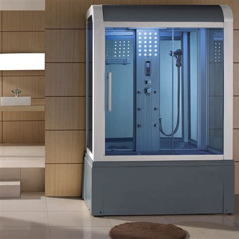 steam shower bath combination eagle bath 59 inch steam shower with whirlpool bathtub