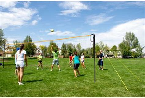 backyard volleyball net new complete outdoor flex volleyball set tournament ball