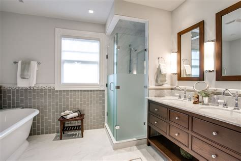 frosted glass tile bathroom traditional with vanity