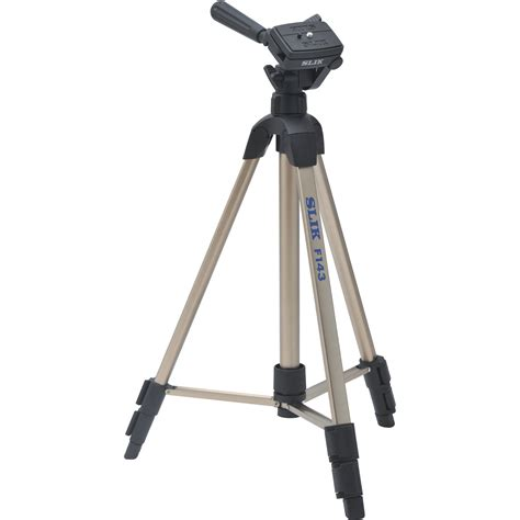 Tripod Slik Slik F143 Lightweight Aluminum Tripod With 3 Way Panhead 617 143