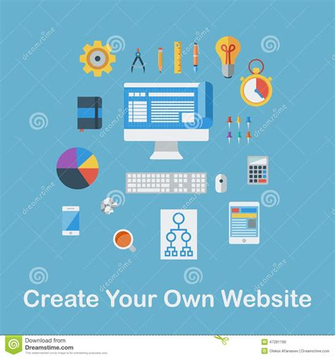 Create Your Own Website Stock Vector Image 47281199 Create Your