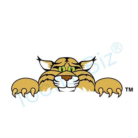 mascot clipart wildcat mascot peeking clip graphic