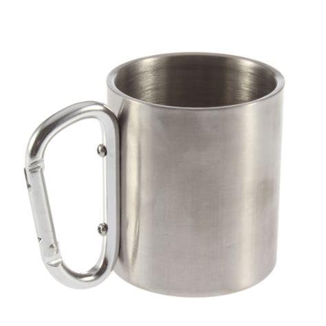 Gelas Carabiner Wall Cangkir Stainless Mug Travel 1pcs wall travel mug cup caneca mugs cups and mugs aluminium carabiner stainless steel