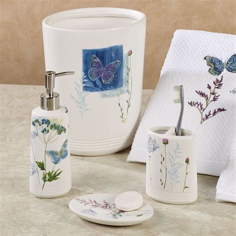 butterfly bathroom accessories indigo wildflowers butterfly bath accessories
