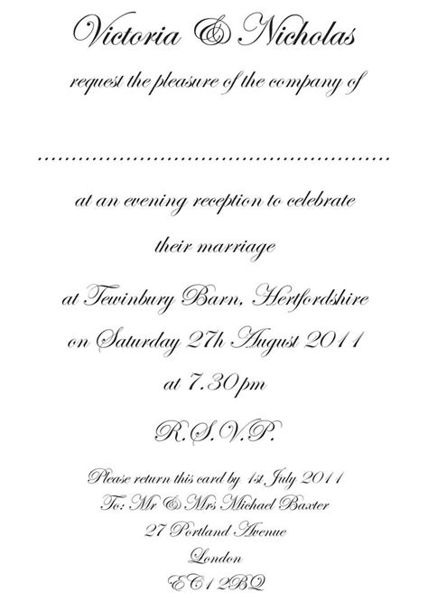 templates for wedding evening invites 23 best images about wedding invitation wording on