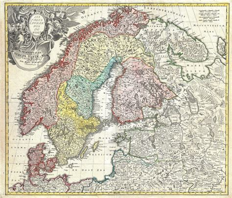 scandinavia map file 1730 homann map of scandinavia sweden denmark finland and the baltics