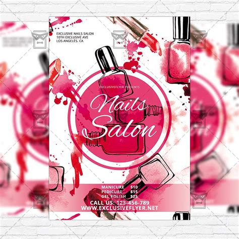 salon flyer template nails salon free club and flyer psd template