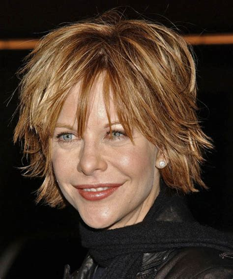 meg ryan short hairstyles for women over 50 meg ryan medium straight casual hairstyle with layered bangs