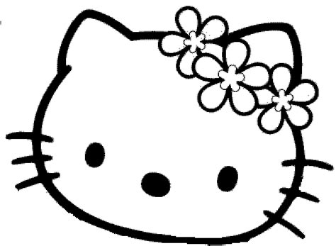 Masque Hello Kitty Fleur D 233 Coupage A Imprimer